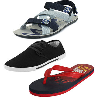 be238e357 Buy Earton Combo Pack Of Sandal With Sleeper And Casual Shoes Online ...
