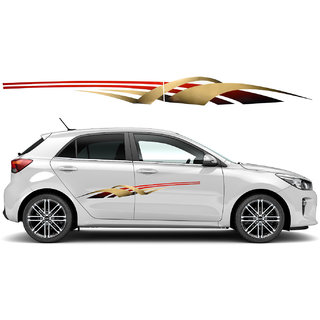 Graphics Side Decal Vinyl Sticker  Universal mid size for Volkswagen CAR