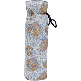 Indha Hanmade Traditional Hand Block Print Cotton Bottle Cover/Water Bottle Cover/Wine Bottle Cover