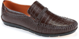 Azotic Men's Brown Loafers Shoes (Raw-Brown)