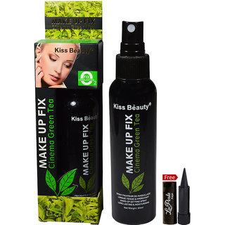 Kiss Beauty Cinema Green Tea Makeup Fix With Free LaPerla Kajal Worth Rs.125/