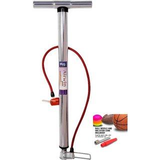 Raj Airwin Chrome High Pressure Air Pump for Car Bike Cycle Sports Ball and Inflatable Furniture