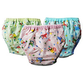 Reusable Dippers pants for new born baby. Diaper/Langot for 6-12 Months babies Pack Of 3. (Assorted Mix color  Design)