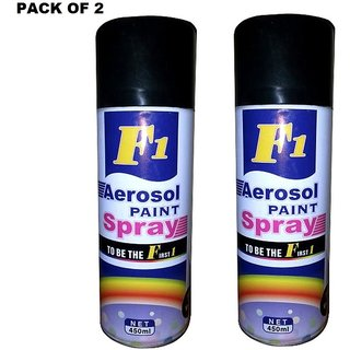 Pack Of 2 Dent Spray For Car, motorcycle, bicycle, motor, automotive etc (Black Color) Shinko