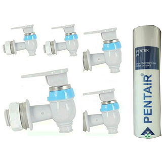 Xisom 5 Pcs Water Tap -With 1 Pc Orginal Pentair Spun Filter Used In All Type Of Ro/Uv Water Purifier