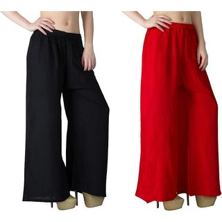 Causal Red  and Black Palazzo pant ,trousers on on 249