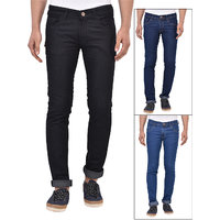 Stylox Set of 3 Stretchable Men's Slim Fit Jeans