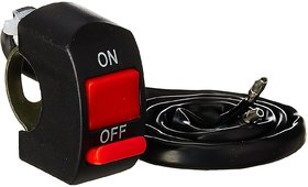 KunjZone Black Red Kill ON-OFF Switch For ATV Motorcycle Scooter Dirt Bike w/7/8'' 22mm Handle Bar