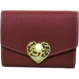 Stylish Artificial Leather Wallet Purse By Parties Wedding For Girls Women