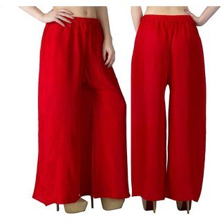 Riya Daily wear red colour of palazzo pant