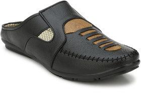 Lee Peeter Men's Black Open Shoe