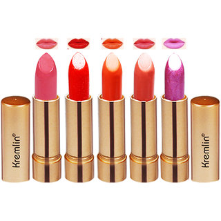 Kremlin Multi Color Rose Gold Lipstick Each 4.5g Pack of 5