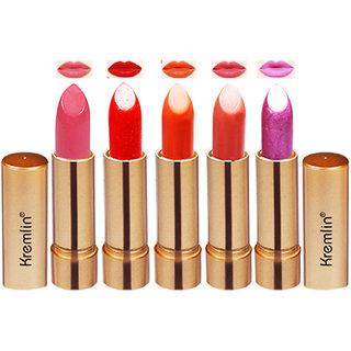 Kremlin Multi Color Rose Gold Lipstick Each 4.5g Pack of 5