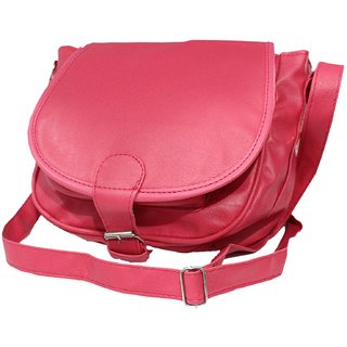 Buy Genuine Leather pink Sling Bag Cross Body for Women Girls(SL-74 ... 5c9bc15658e64