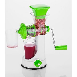 Plastic Manual Fruits and Vegetable Juicer with Steel Handle by uttam