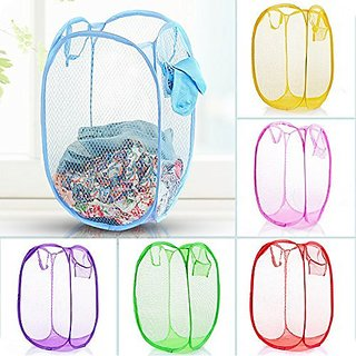 Shopper52 Easy Laundry Clothes Flexible Hamper Bag With Side Pocket - ESYLNDYBG