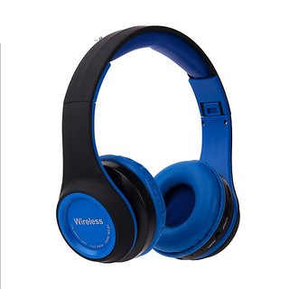 Wireless Bluetooth Headphone Gaming Headsets FM/TF Card Radio Stereo Auriculares With Mic MS991A Blue