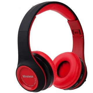 Wireless Bluetooth Headphone Gaming Headsets FM/TF Card Radio Stereo Auriculares With Mic MS991A Red