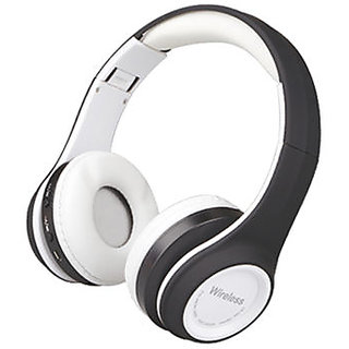 Wireless Bluetooth Headphone Gaming Headsets FM/TF Card Radio Stereo Auriculares With Mic MS991A white