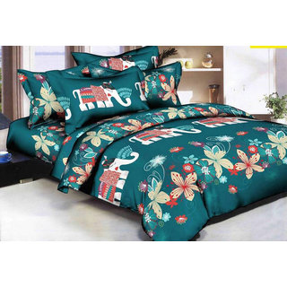 Bhawna Ele Double Bedsheet with 2 pillow cover (AR-3)