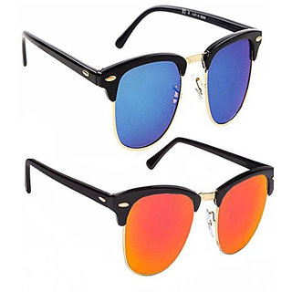 da669dd0d7 Buy Combo of 2 Mirrored Clubmaster Sunglasses Online - Get 83% Off