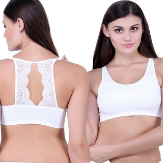 8166db01b7a3d Buy yonce white stripped bralette 1718 Online - Get 63% Off