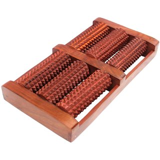 BANQLYN Wooden Foot / Feet Massager 6 Roller Stress Acupressure feet stress reliever