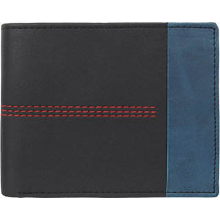 29K Artificial Leather Black Bi-fold Mens Wallet - (29KBLCK1)