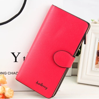 Baellerry Clutch Mobile Holder PU Leather for Women Red