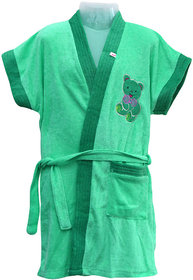 Dazzle baby bath rob bath gown bath robe for boys bath robe for girls bath towel 3-4 years green