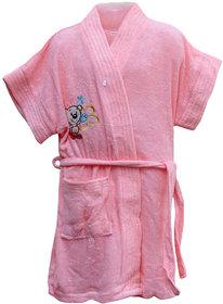 Dazzle baby bath rob bath gown bath robe for girls 3-4 years color pink