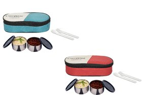 Carrolite Easy Carry 2 Black container Lunchbox Red and Green Buy 1 get 1 Free