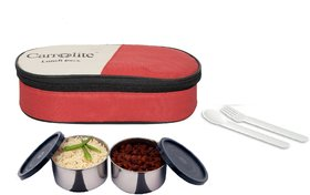 Carrolite Fresh 2 Black Containers lunchbox Red