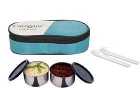 Carrolite Fresh 2 Black Containers lunchbox Green