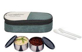 Carrolite Fresh 2 Black Containers lunchbox Mehndi