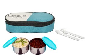 Sling 2 Container lunchbox 400 Ml Green