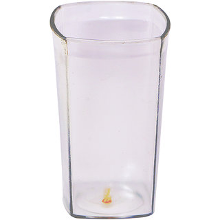 Carrolite Glass Unbreakable Stylish Transparent Square Glass (300 ml )