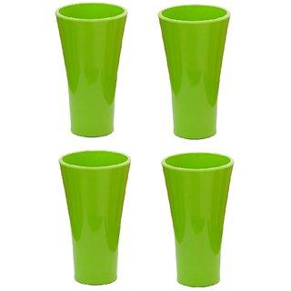 Unbreakable Multipurpose classic Green Glass  300 Ml  Set of 4