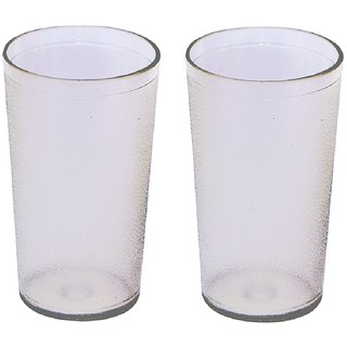 Unbreakable Multipurpose Daily use Round Transparent Glass  300 ml Set of 2