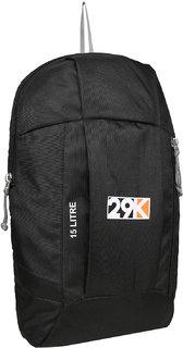 29K Outdoor Travel Backpack For Hiking Camping Rucksack Black 15L Laptop Backpack
