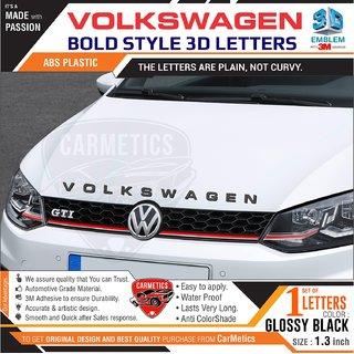 VolksWagen 3d Letters for Tsi - Glossy Black 1 Set - CarMetics