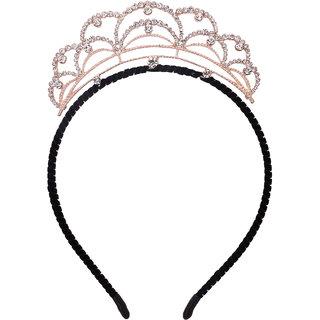 Yashasvi designer black golden charming Tiara Hair Band Hair Accessory For Girls And Women