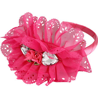 Yashasvi designer pink graceful Hair Band Hair Accessory For Girls And Women