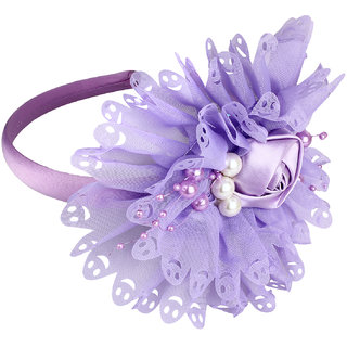 Yashasvi designer purple lovely Hair Band Hair Accessory For Girls And Women