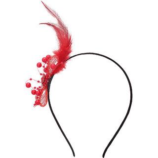 Yashasvi designer black  red fascinating Hair Band Hair Accessory For Girls And Women