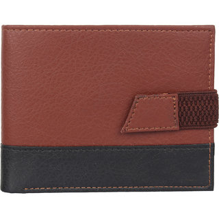 29K PU Leather Brown Black Mens Wallet - (29KBRWNBLK1)