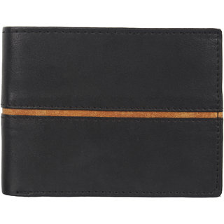 29K Artificial Leather Black Mens Wallet - (29KBLCK2)
