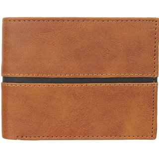 29K Mens PU Leather Tan Bi-fold Wallet - (29KWTAN2)