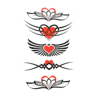 3D Temporary Tattoo Sticker Beautiful Colored Heart Totem Popular Design For Men Women Girls Hand Arm Waterproof New Tattoo Size - 10.5x6cm
