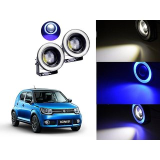 Car Fog Lamp Blue Angel Eye DRL Led Light For Maruti Suzuki Ignis